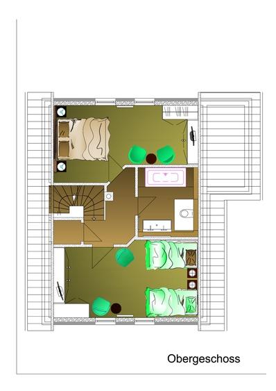 Planung Obergeschoss