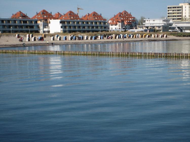 Der Standpark in 80 m bis zum Strand, mit eigenen Standkorb von Mai bis September