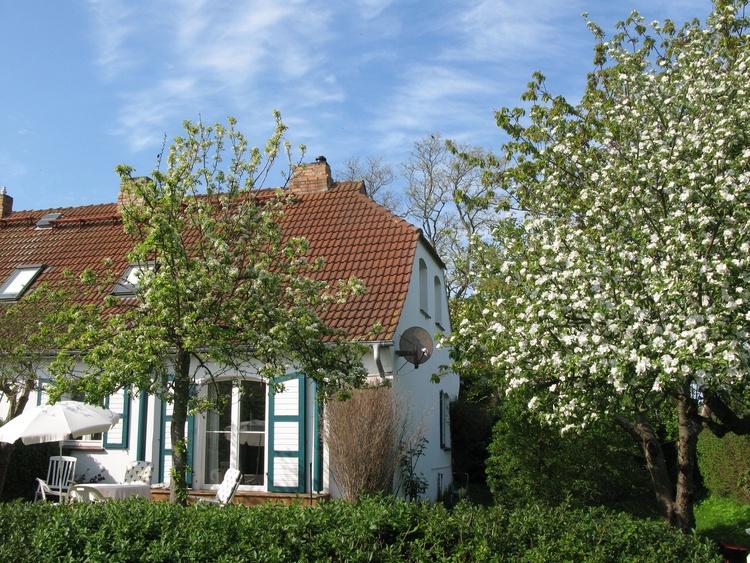 Haus vom Garten gesehen