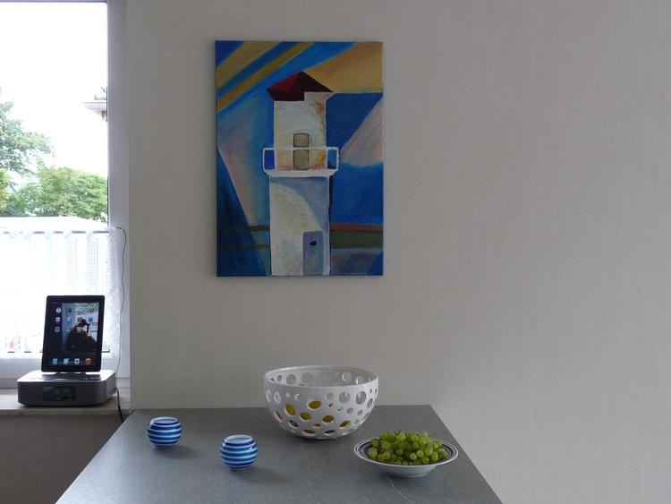 eines der vielen selbstgemalten Bilder im Haus