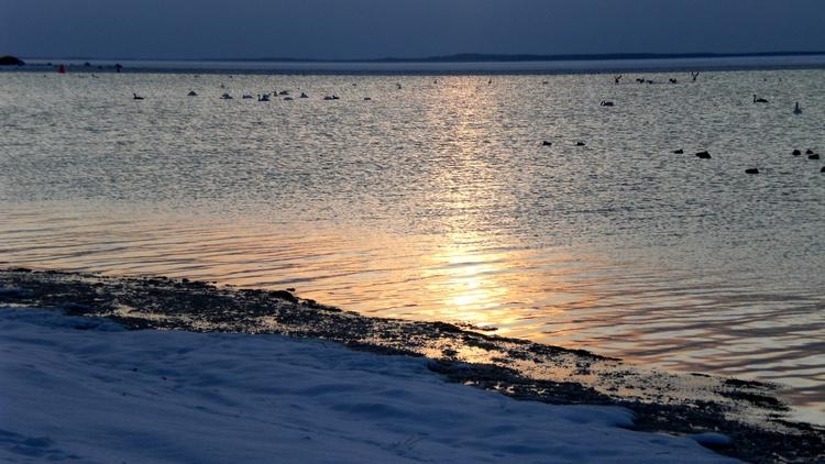 Sonnenuntergang am Strand von Schaprode