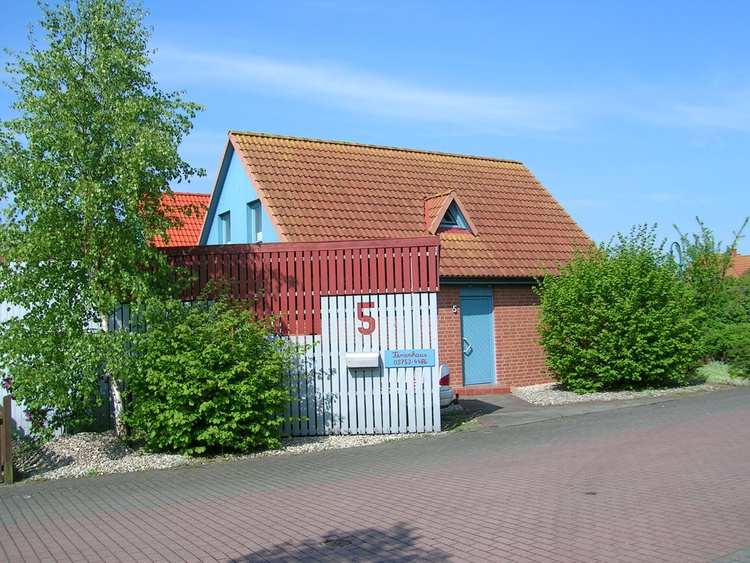 Ferienhaus Teich Eingang