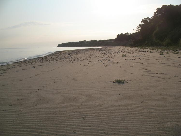 Menschen leerer Strand