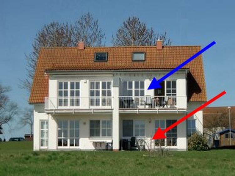 Großzüger Balkon mit Boddenblick