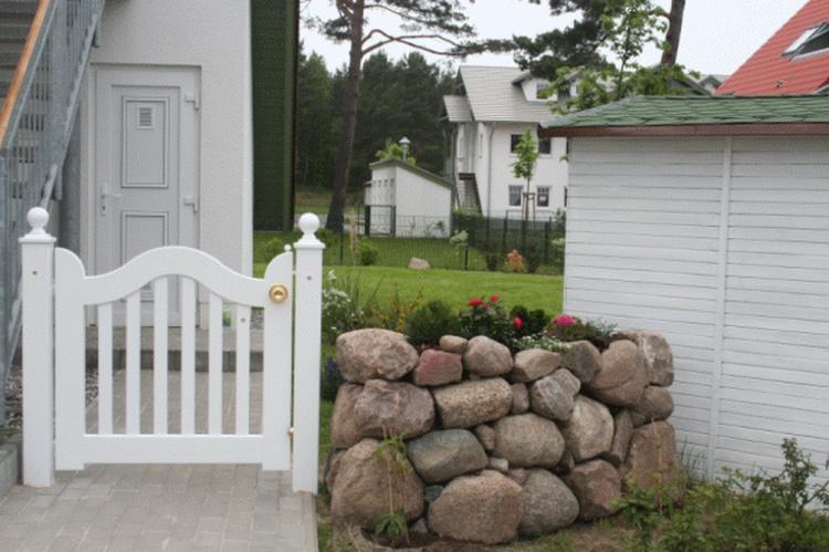Eingang zur Ferienwohnung und zum Garten