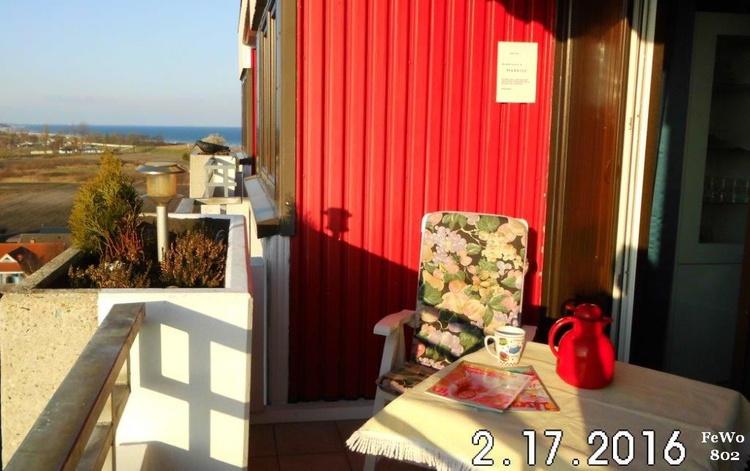 Balkon, Sonne Vormittag bis Untergang