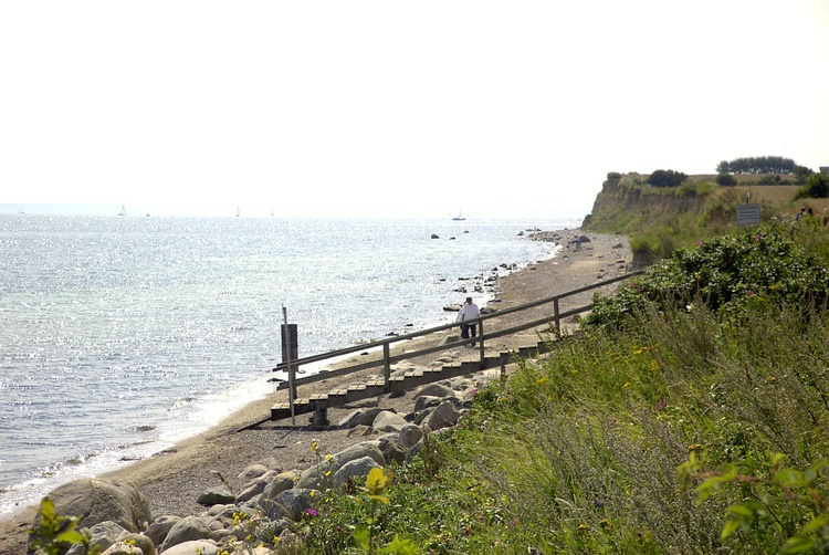Strandtreppe an der Steilküste