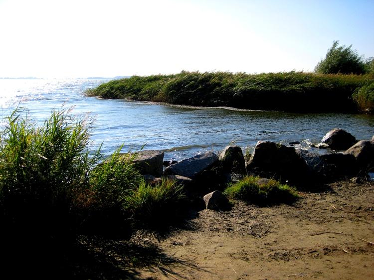 Badeplatz am nahegelegenen Achterwasser