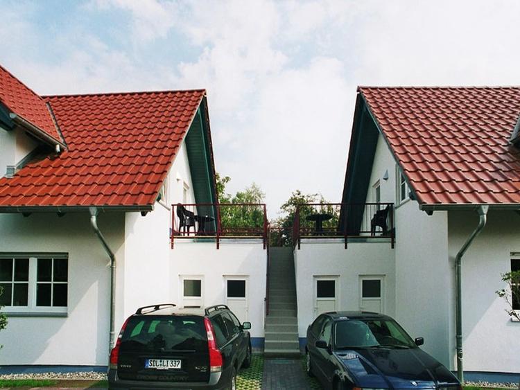 Ansicht zu den Wohnungen Haus 3 und Haus 4