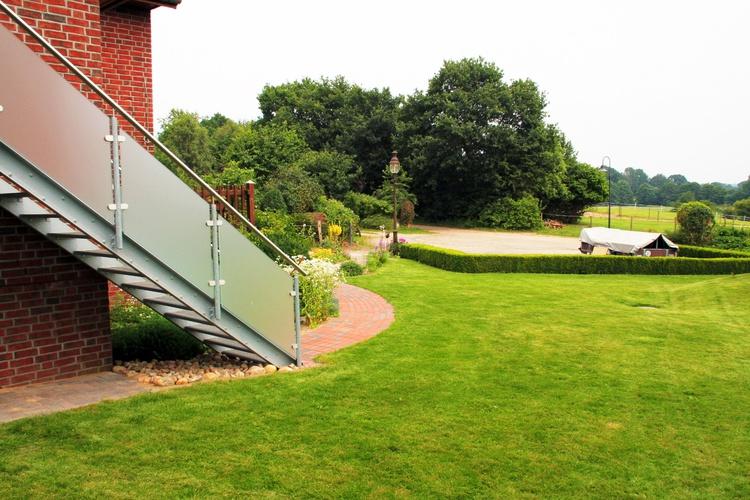 Ferienwohnung Stellplatz, Zugang, Garten