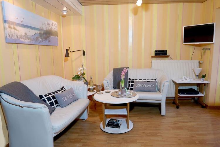 Sitzbereich von der 40 qm Ferienwohnung.