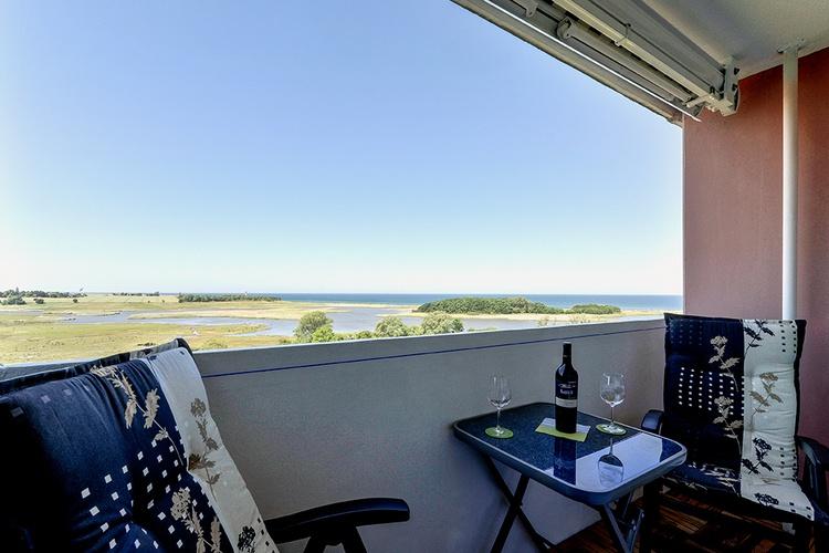 Balkon Blick zur Ostsee
