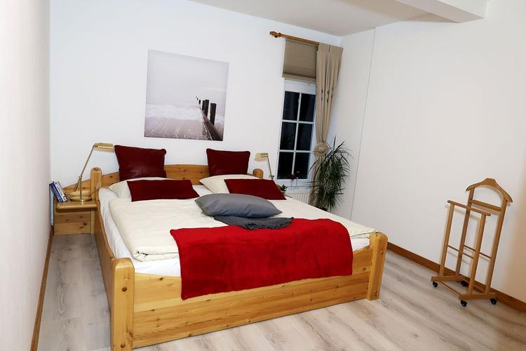 Schlafzimmer der 90 qm Ferienwohnung.