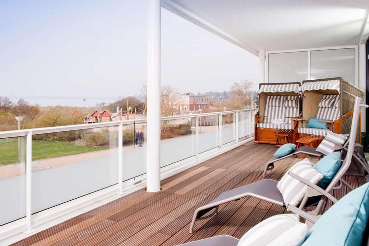 Ostseeblick-Balkon im Spa-Bereich