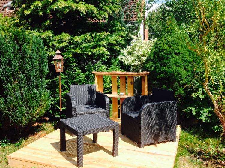 Loungebereich zur Ferienwohnung