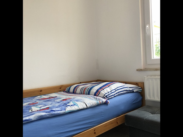 """Schlafzimmer in der FeWo """"Muschel"""""""