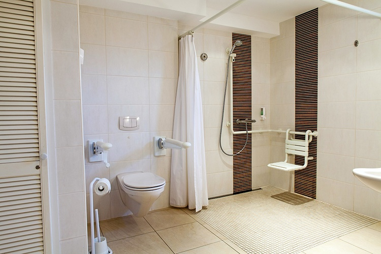 Bathroom wheelchair accessible
