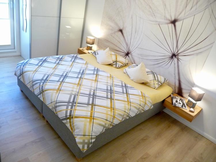 Schlafzimmer 1 mit Doppelbett (180x200)