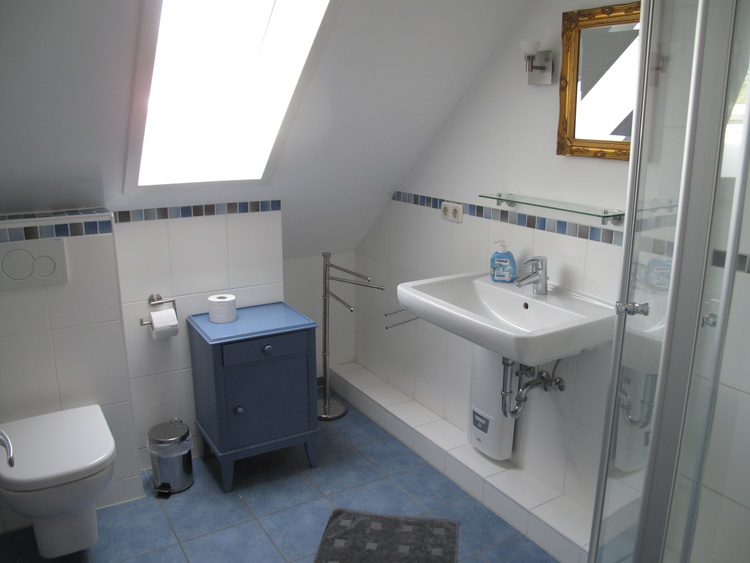 Ein Bad im Dachgeschoss