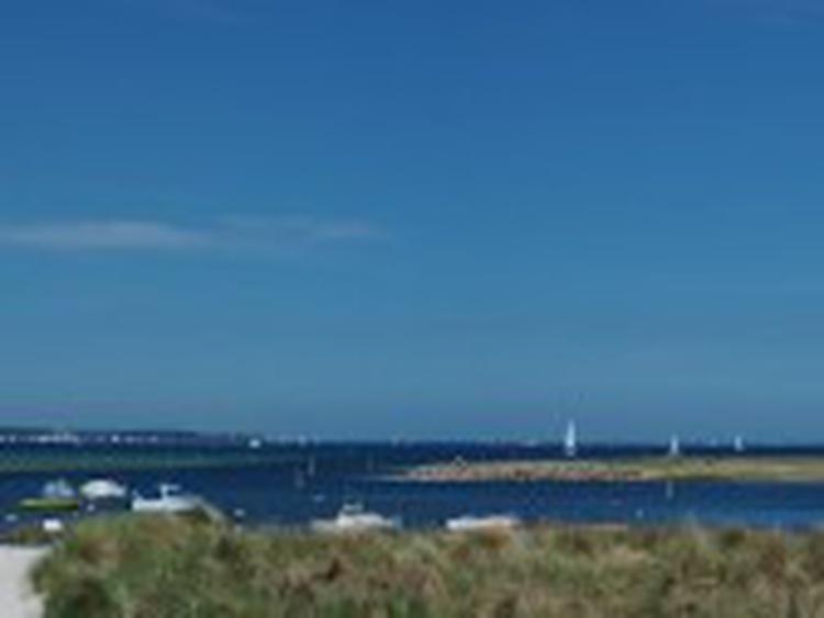 unsere Hafeneinfahrt zur Marina, Schiffegucken inklusive