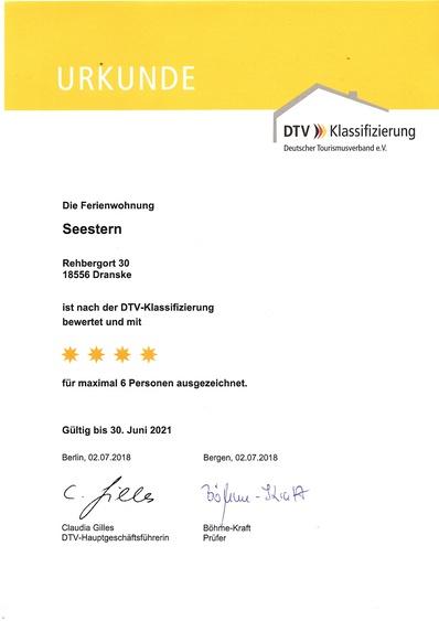 DTV 4 Sterne Zertifikat
