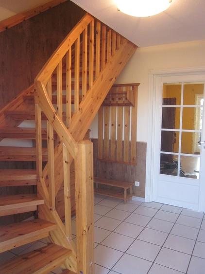 Flur mit unserer Treppe zu den Schlafzimmern