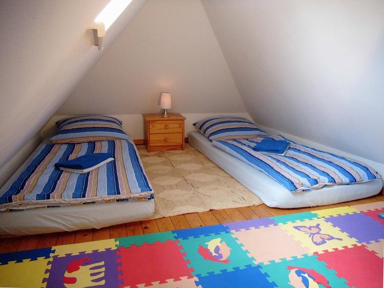 Ferienwohnung blau - Schlafboden