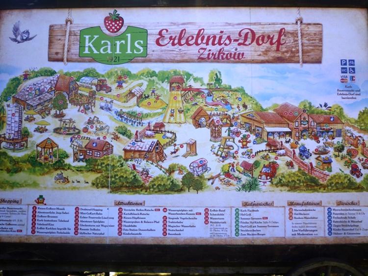Karls Erlebnisdorf 12 km entfernt