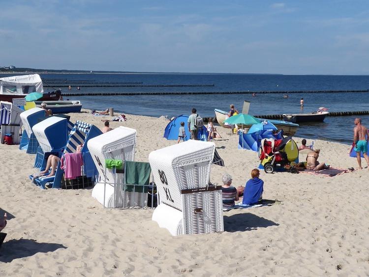 Bequemer Ausblick vom Strandkorb aus