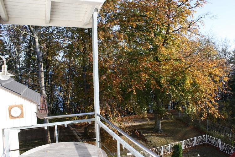 Blick in die gleich am Haus beginnende Granitz(Naturschutzgebiet)