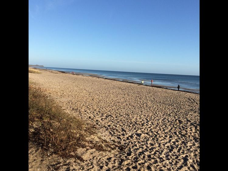 Die Ostsee und der Strand