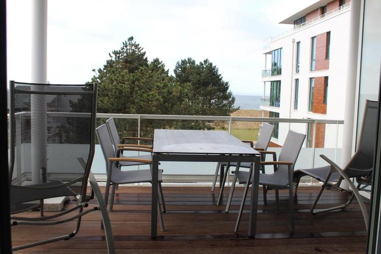 Der Balkon mit Meerblick in Südlage