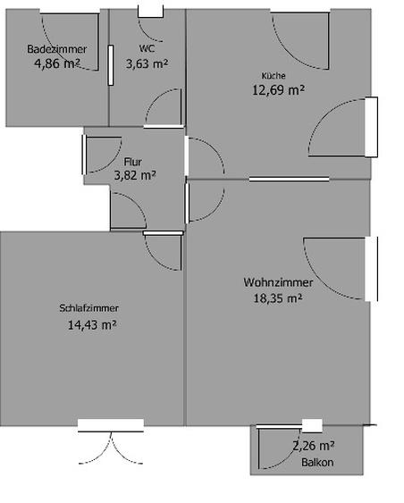 "Grundriss Wohnung ""Düne"""