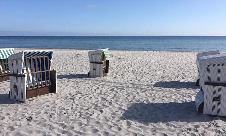 Strandkorb am Strand