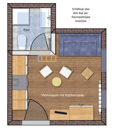 """Apartment Bülk auf """"einen Blick"""""""