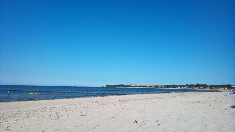 Strand Glowe im Sommer