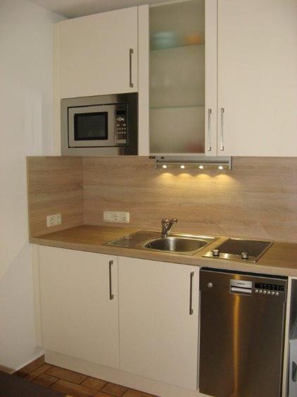 Küchenzeile mit Mikrowelle u. Geschirrspüler (Haushälfte 1)