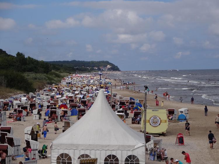 Strand im Hochsommer