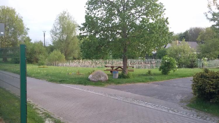 Blick vom Ferienobjekt auf den Dorfteich Gahlkow Teil 2