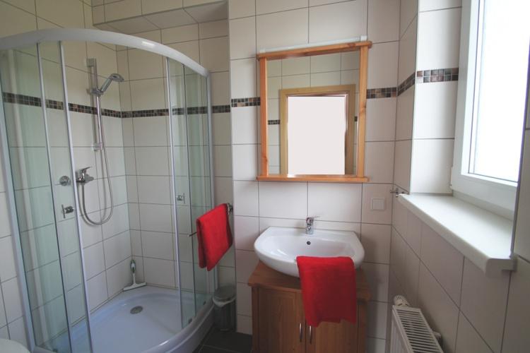 Duschbad des Ferienzimmers