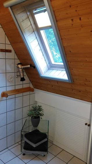 Duschbad, Fön, Handtücher