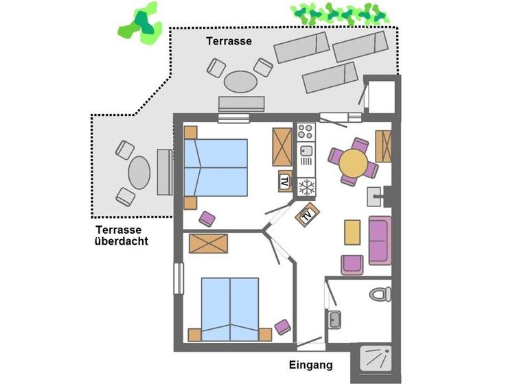 Ferienhaus lila - Grundriss
