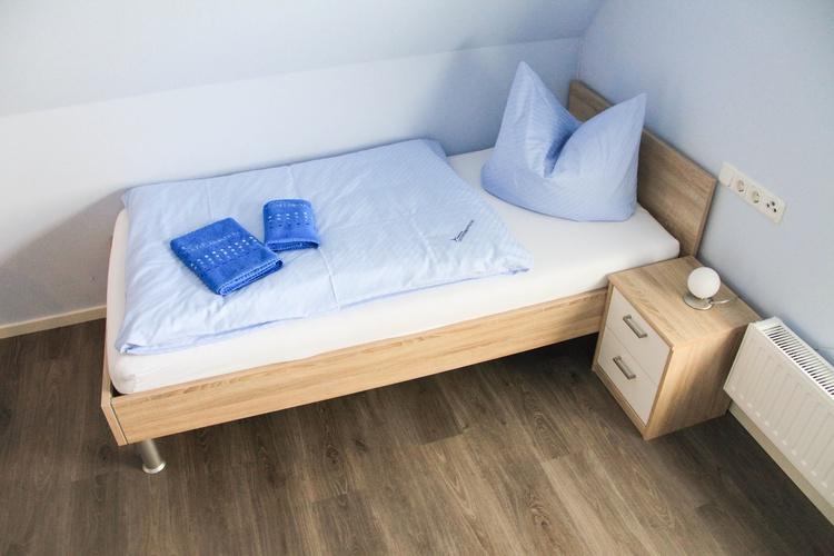 Schlafzimmer 2 Einzelbetten Dachgeschoss
