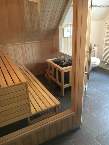 Sauna im großem Bad