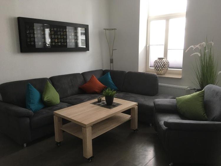 Wohnbereich Ferienwohnung Bernstein in Göhren