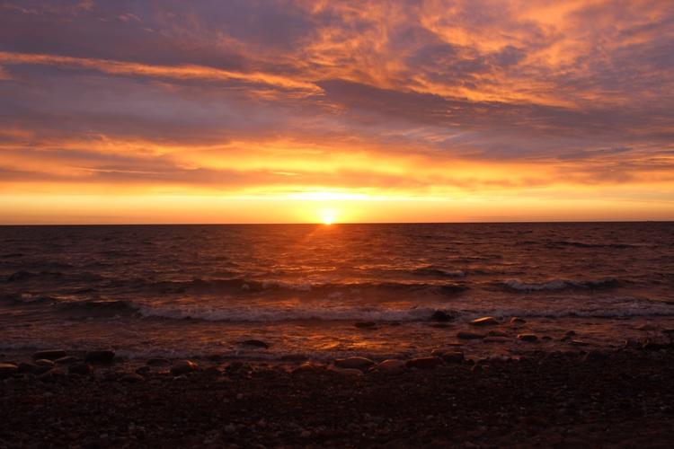 Sonnenuntergang 200m vom Haus