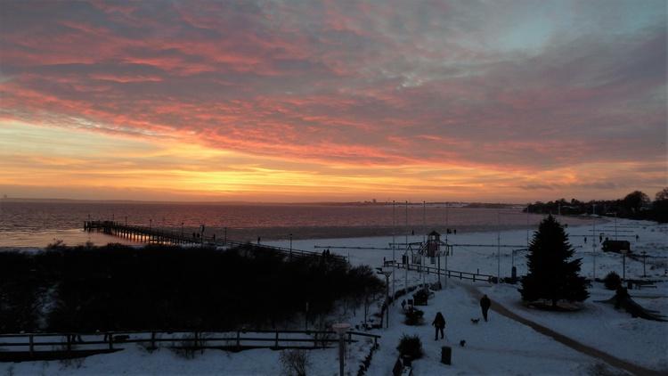 Herrliche Sonnenuntergänge auch im Winter