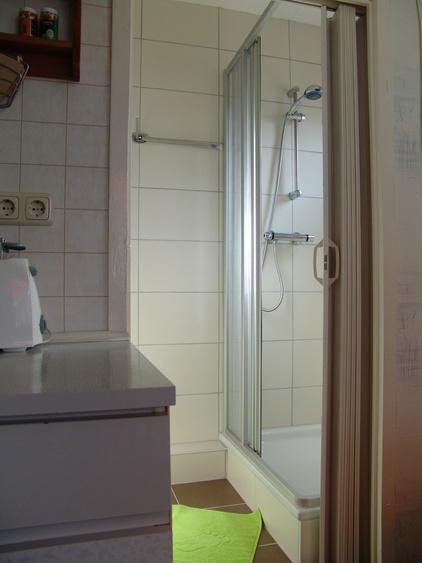 Ein belebendes morgendliches Duschbad sorgt für angenehmes Wohlbefinden.