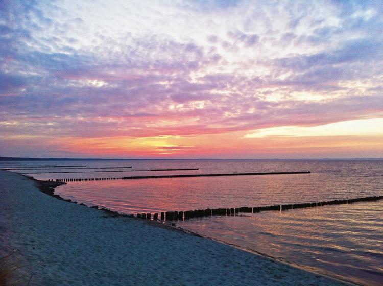 Glower Strand am Abend