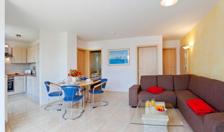 Wohnbereich 3-Zimmer-Ferienwohnung für max. 4 Personen